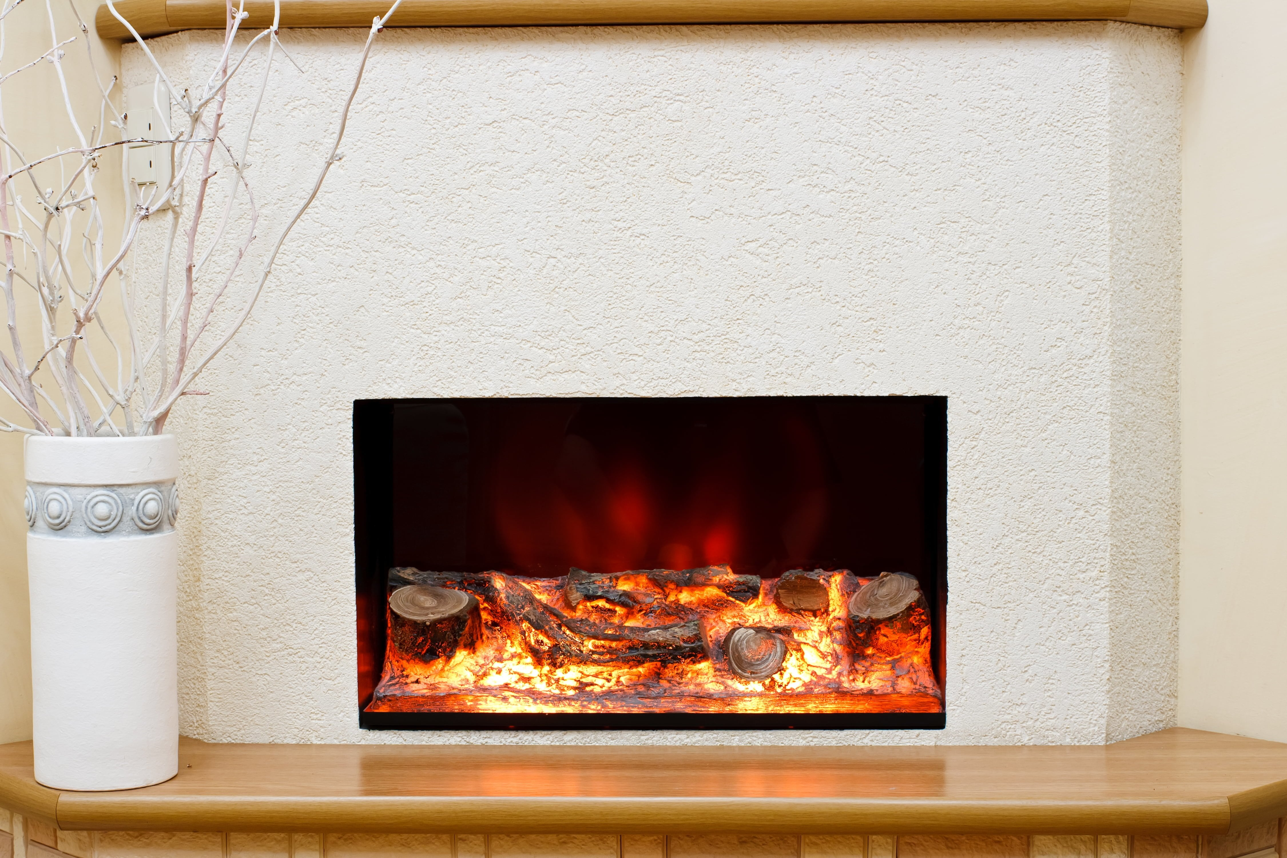 Electric fireplace style options fire place utah for Fireplace options